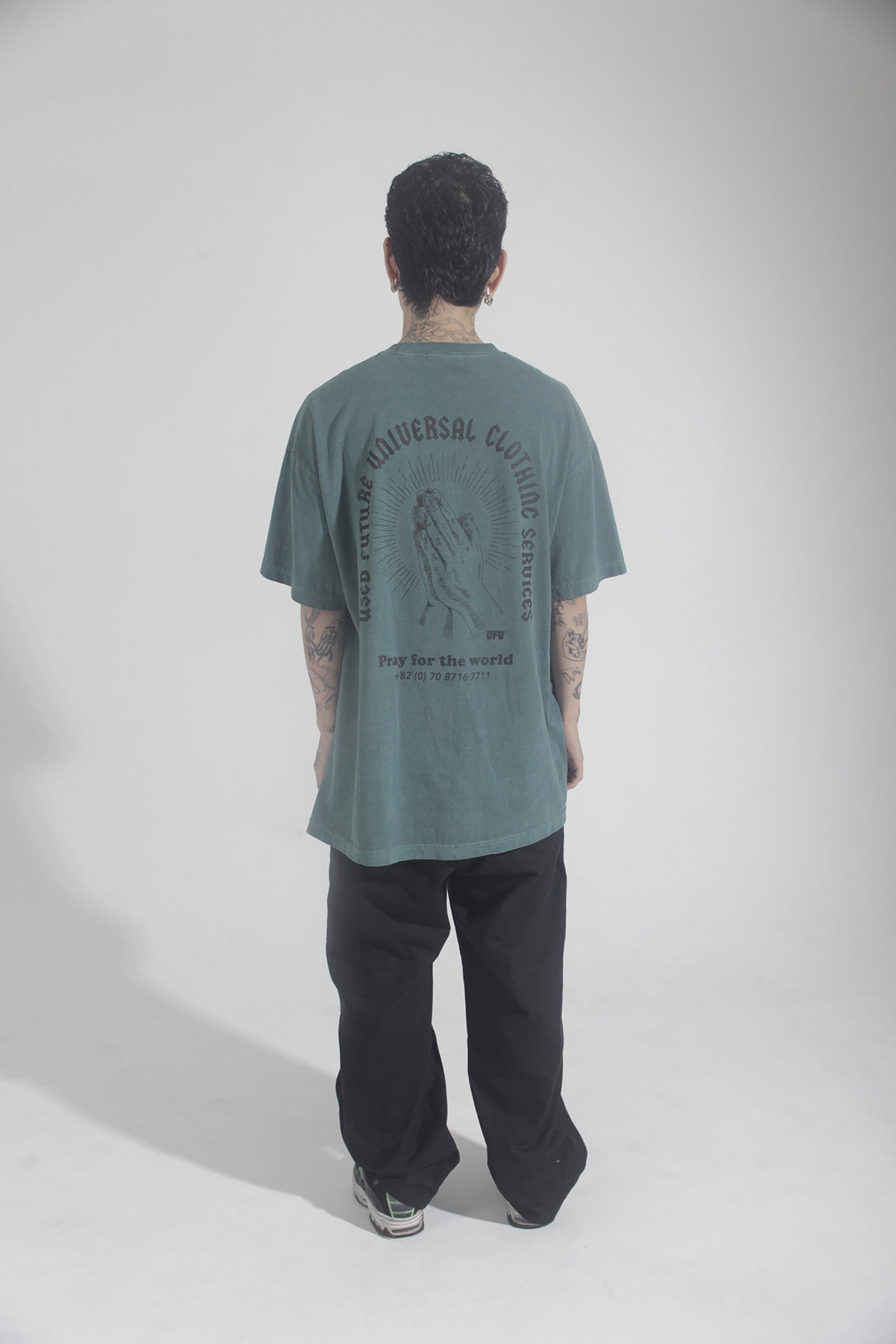 PRAY PIGMENT T-SHIRT_FOREST GREEN