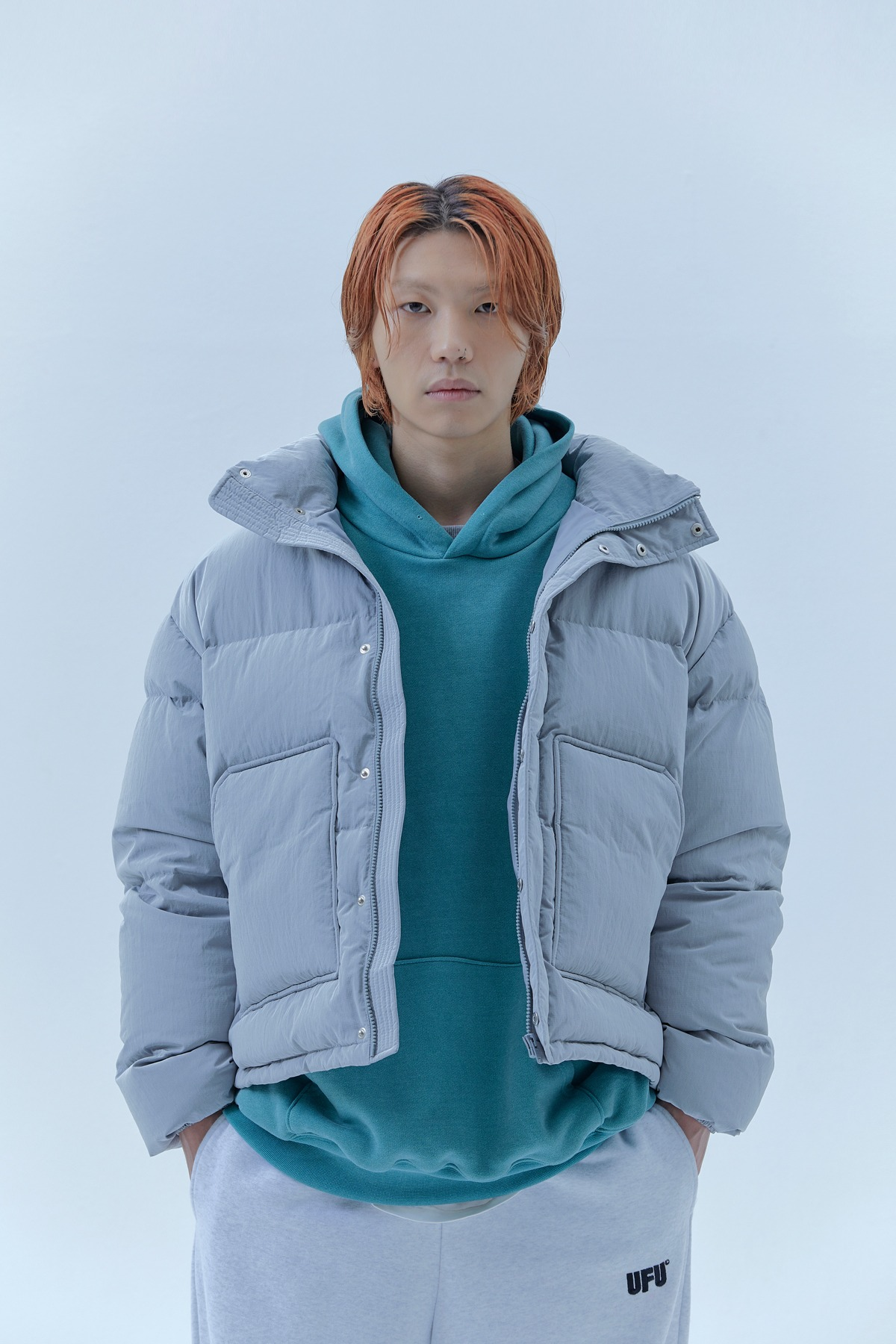 RS SHORT PUFFER_GREY