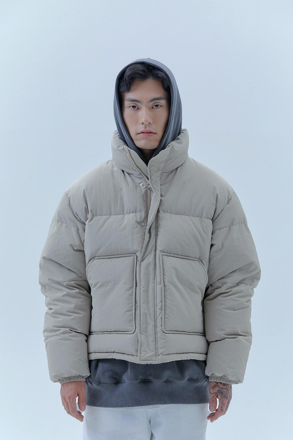 RS SHORT PUFFER_BEIGE