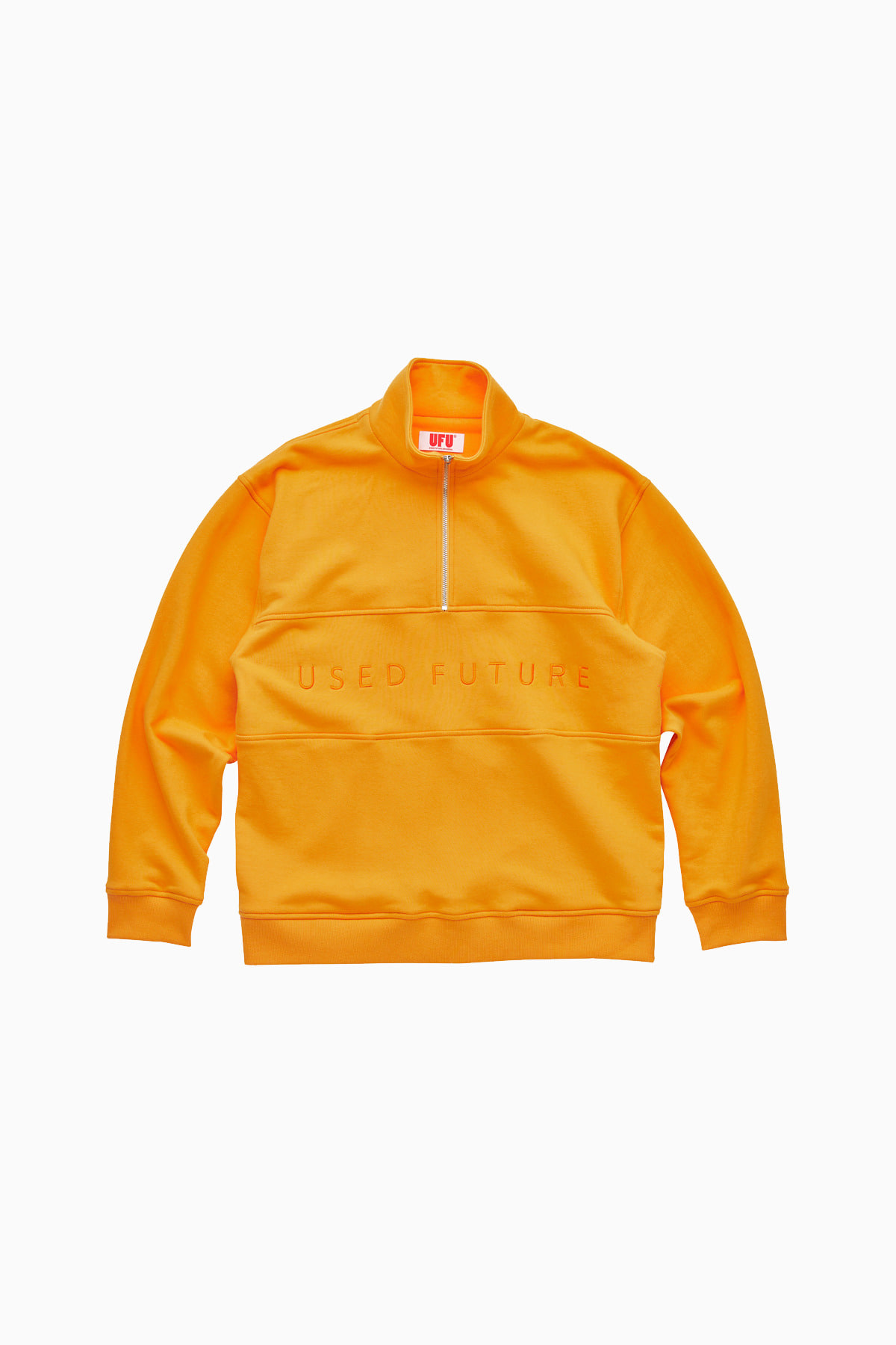 QUARTER ZIP UP_ORANGE
