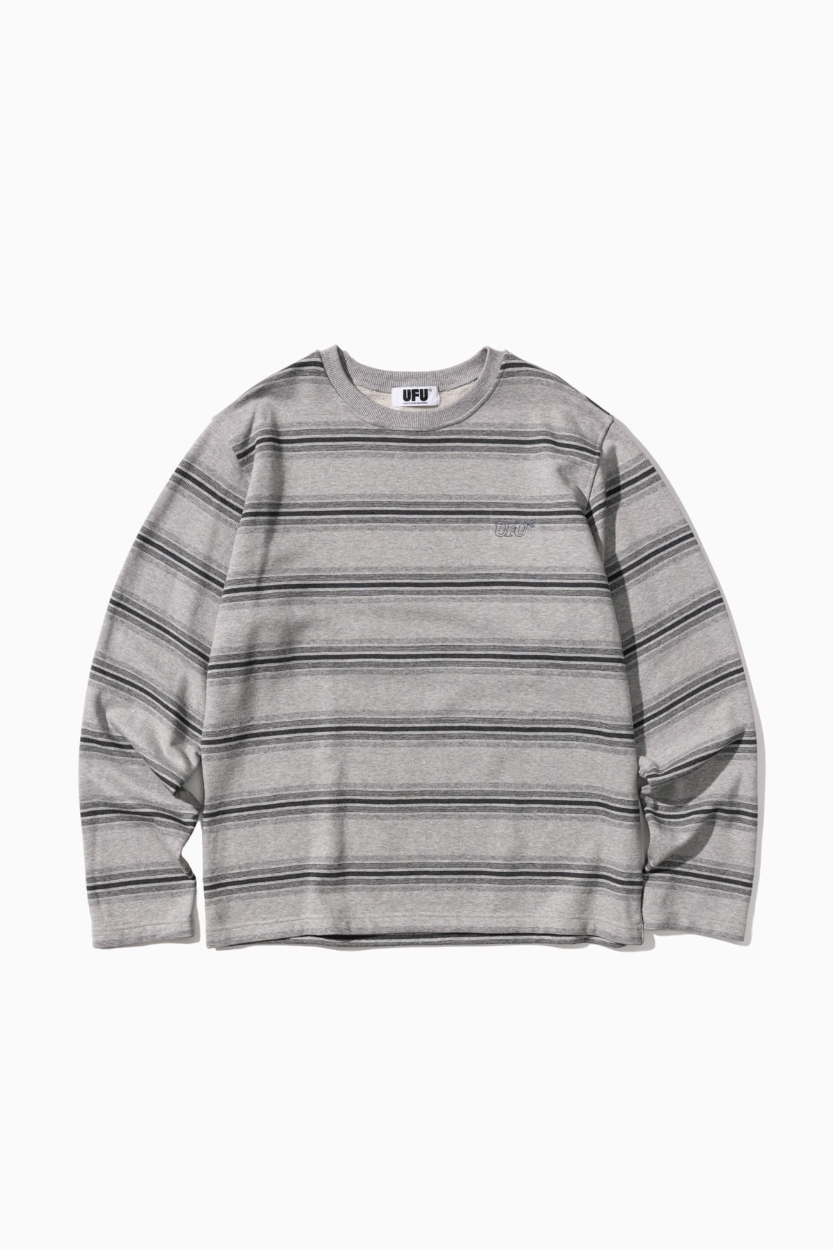LS STRIPE T-SHIRT_GREY