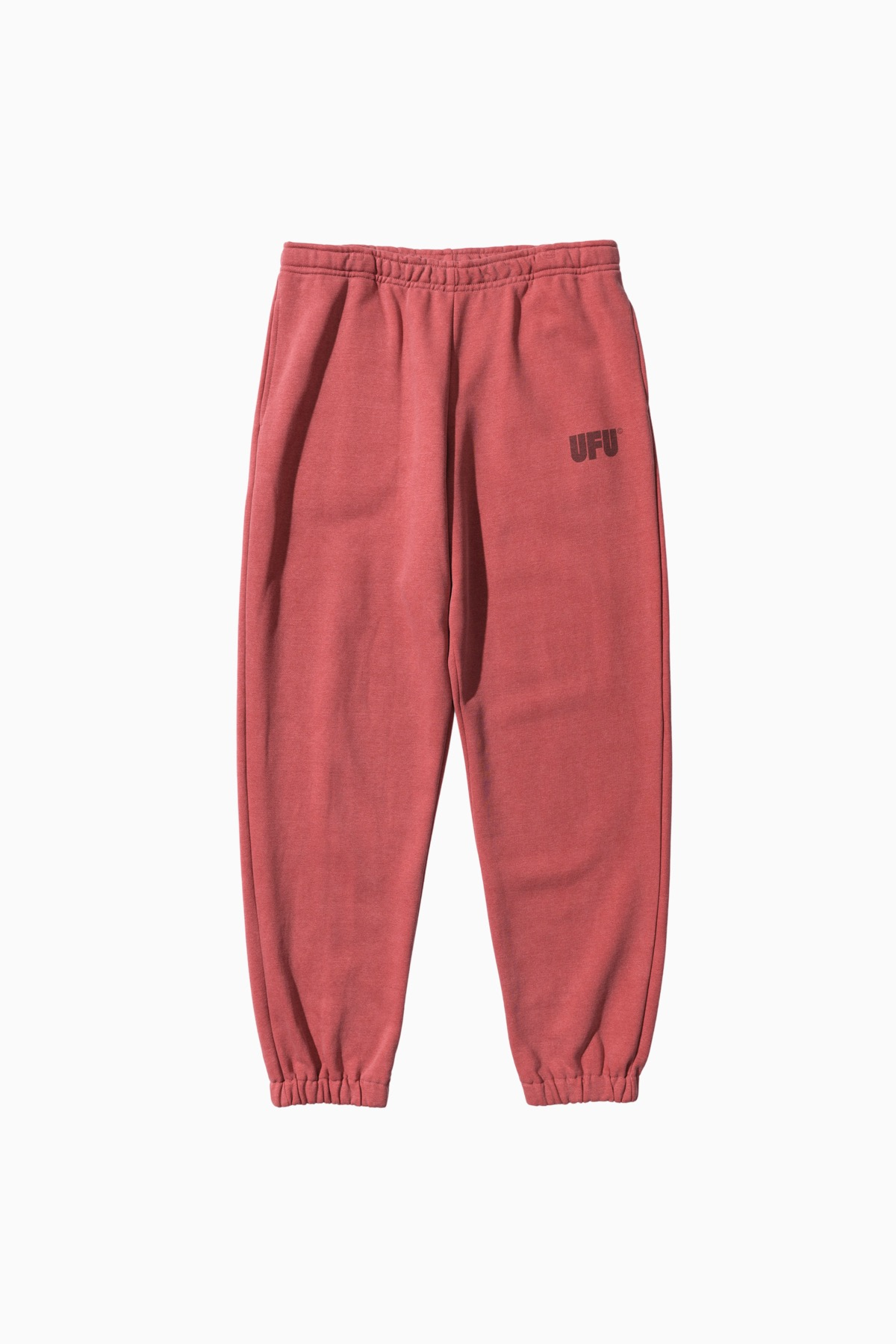 LOGO PIGMENT SWEATPANTS_RED